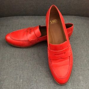 Franco sarto red leather loafers.   Size 8.5